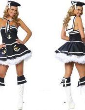 Disfraz sexy de marinera sexy compuesto de vestido con tutú con motivos marinos con gorro y capa DIS00039