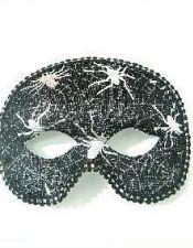 Mascara de fantasia de hombre con estampados de telarañas en color plateado ACC00022