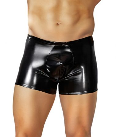 Boxer de latex tipo short con efecto brillante