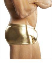 Sensual calzoncillo BOXER tipo MINI SHORT de latex con efecto metalizado BOX00010