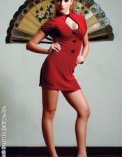 Minivestido sexy KIMONO de terciopelo elastizado color burdeos con pasamaneria y ribetes negros VES00106
