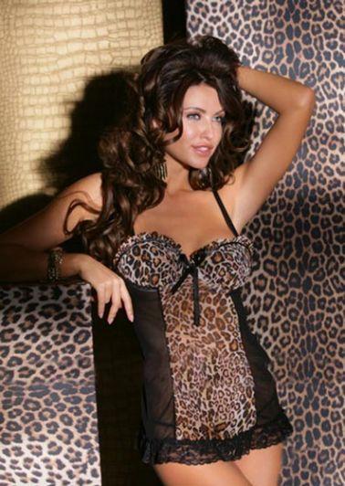 Sensual picardias de microtul negro combinado con microtul de leopardo.