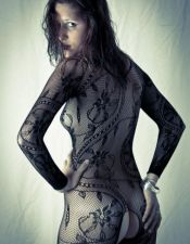 Bodystockings en color negro