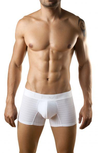 Boxer sexy de tejido elástico blanco o negro