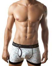 Boxer masculino de algodon con estampados y ribetes en color negro BOX00021