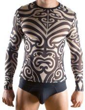 Camiseta sexy masculina con estampados tribales CAH00001