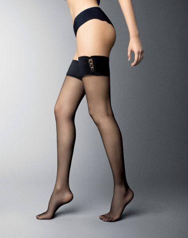 Medias sexys con liga LISA con calado en el lateral