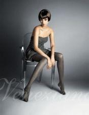 Panty sexy con rayas verticales efecto Lurex en color plateado MED00064