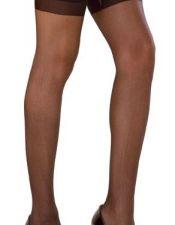 Medias sexys de tejido elastico liso con ligas LISAS MED00071