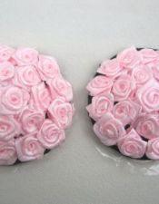 Cubrepezones con delicadas rosas de forma redonda PEZ00042