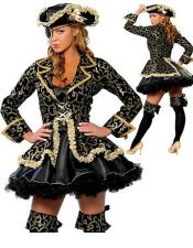 Atractivo disfraz de Pirata sexy DIS00061