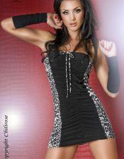 Vestido sexy de tubo palabra de honor drapeado VES00121
