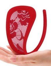 Tanga sexy invisible preformado de encaje con motivos florales TAN00059