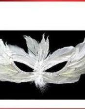 Antifaz de plumas con ojos rasgados ACC00053