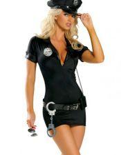 Disfraces de policía en color negro
