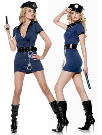 Disfraz sexy de Policia Sexy con cremallera