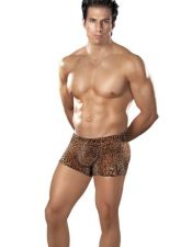 Original bóxer de tejido elástico con estampado de leopardo SDI00011