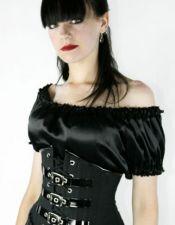 Atractivo corsé tipo fajín con detalles de charol negro también en tallas grandes CYC00227