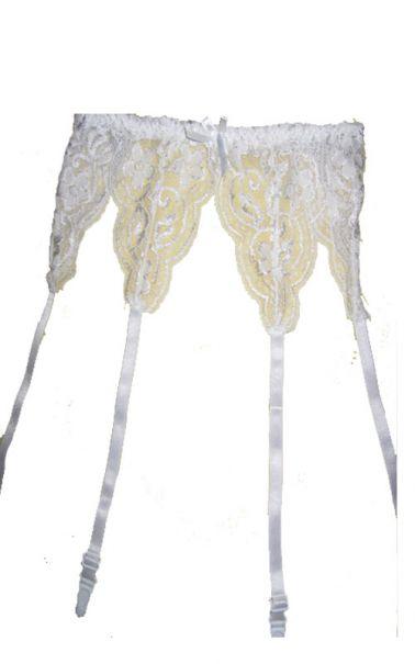 Liguero sexy blanco de encaje