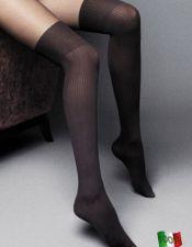 Medias sexys negras por encima de las rodillas MED00089