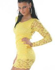 Vestidos sexys en color amarillo