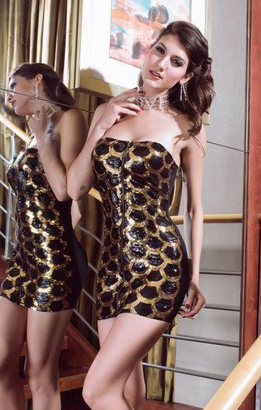 Mini vestido sexy de lentejuelas