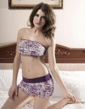 Sensual conjunto sexy de minifalda y bandeau CON00247