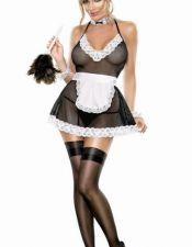 Sensual disfraz sexy de doncella con muñequeras DIS00111
