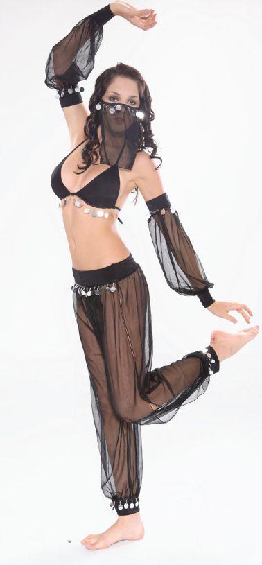 Bailarina de Danza del Vientre semitransparente