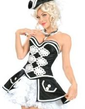 Disfraz sexy de mujer pirata DIS00115