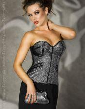 Elegante corsé sexy de fiesta con cremallera, disponible también en talla grande CYC00244