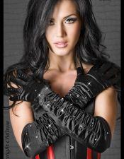 Estilosos guantes sexys negros con strass GUA00009