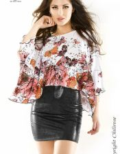 Original camiseta de mangas anchas con mariposas VES00153