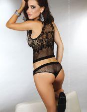 Conjunto sexy de top y braguita de red CON00276