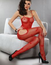 Original body sexy stocking de red con corazones BDS00124