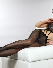 Bodystocking en color negro