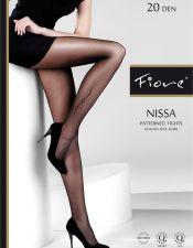Elegantes pantys sexys negros con motivo trival MED00135