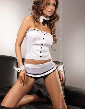 Conjunto de Disfraz Camarera Sexy 5 piezas DIS00136
