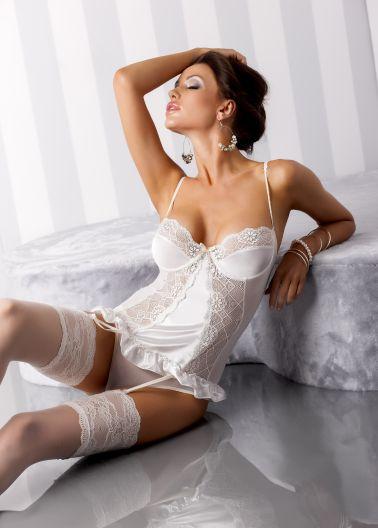 Conjunto de corpiño erotico de encaje en tallas grandes