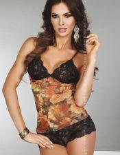 Conjunto erotico de camiseta y culotte CON00294