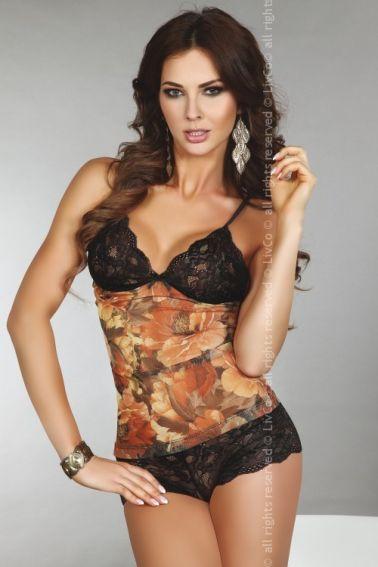 Conjunto erotico de camiseta y culotte