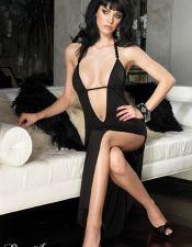 Vestido largo de fiesta con escote pronunciado VES00164