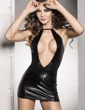 Vestido sexy de latex con escote pronunciado, también en talla grande PLC00068