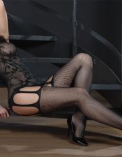 Body sexy negro con estampados tribales BDS00139