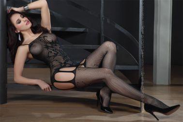Body sexy negro con estampados tribales