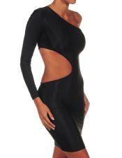 Mini vestido sexy negro VES00166