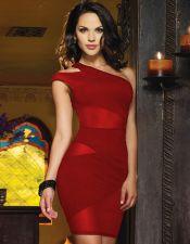 Vestido semitransparente en varios colores VES00168