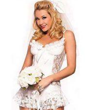 Disfraz de novia sexy también en talla grande DIS00139