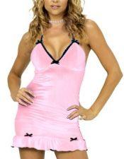 Vestido sexy de tejido elástico con fibra con volante VES00002