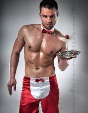 Disfraz masculino sexy de camarero DSH00010